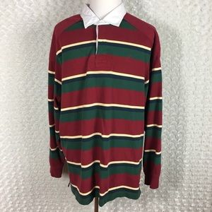 Vintage Daniel Cremieux Striped Rugby Polo  Shirt